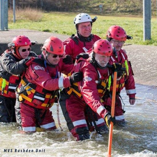 MVS Rushden using our essential tool during flood rescue operations training