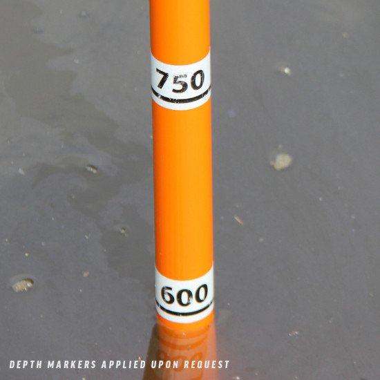 All poles can be customised with markers upon request (white, colour or reflective). Please enquire