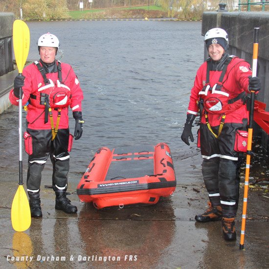 County Durham & Darlington Fire and Rescue service with our telescopic wading pole