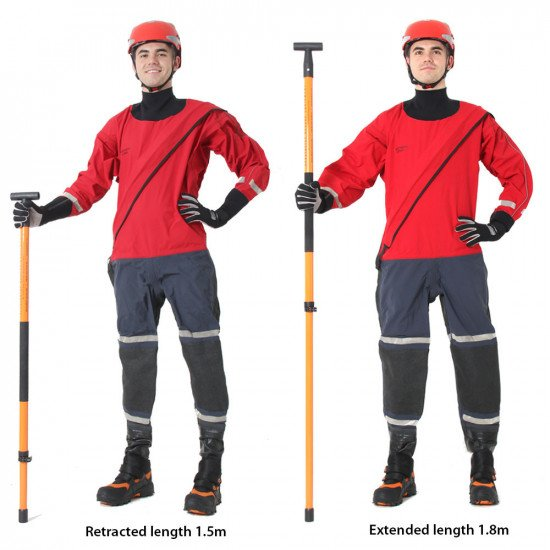 Fully adjustable telescopic wading pole to suit any height