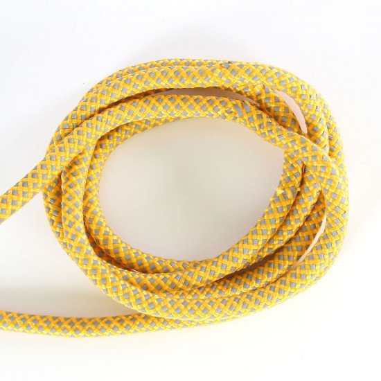 Reflective line, yellow rope with silver reflective thread