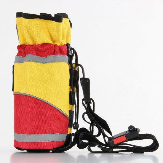 Throw Bag with 20m Reflective Line, side view left facing