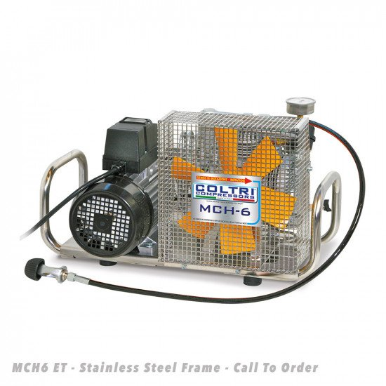 MCH6-ET-Portable-Compressor-Stainless-Steel-Frame-Front-View