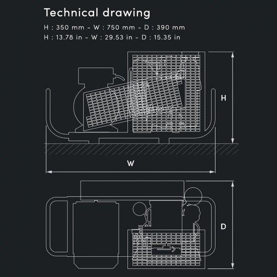 MCH6-EM-ET-SH-LD-Portable-Compressors-Technical-Drawing