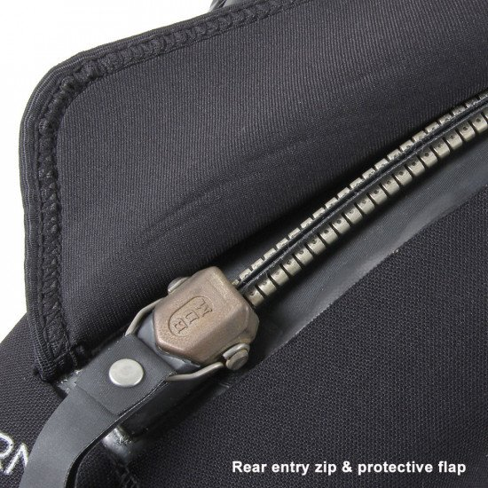 Divemaster Commercial rear entry zip & protection flap