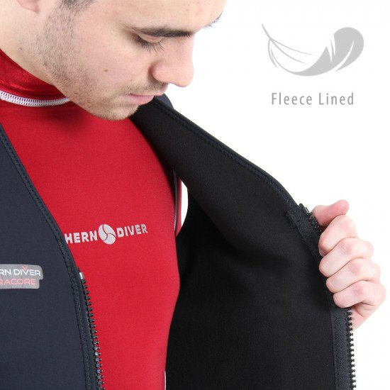 The 'Electracore' has been made using a flexible 3.0mm black neoprene shell along with a snug fleece