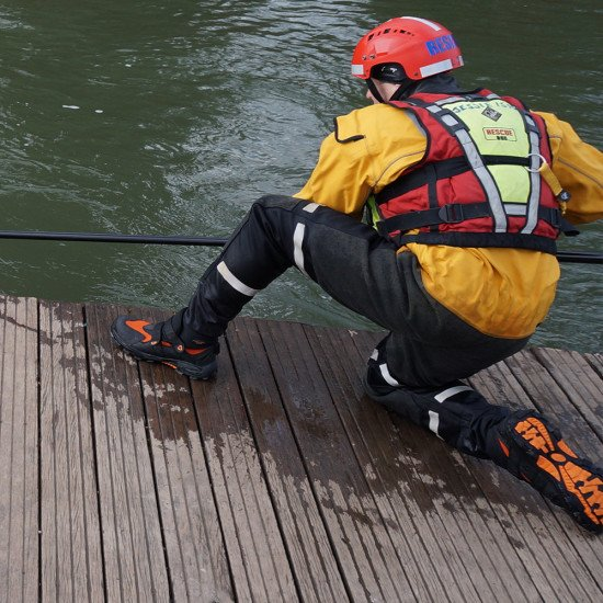 Oxfordshire-fire-service in our water safety boots