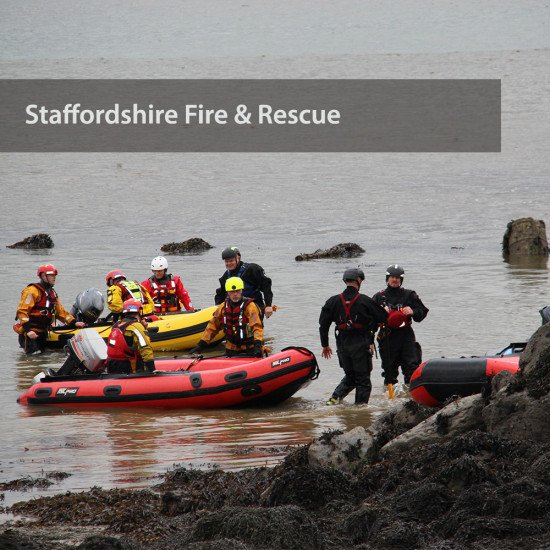 Staffordshire Fire & Rescue - coming to shore