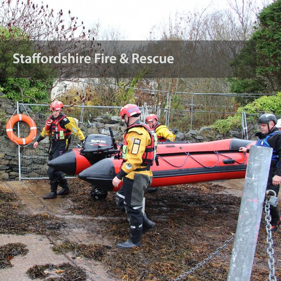 Staffordshire Fire & Rescue - taking the boats out