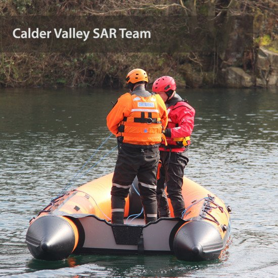 Calder Valley SAR Team - stood up on the boat