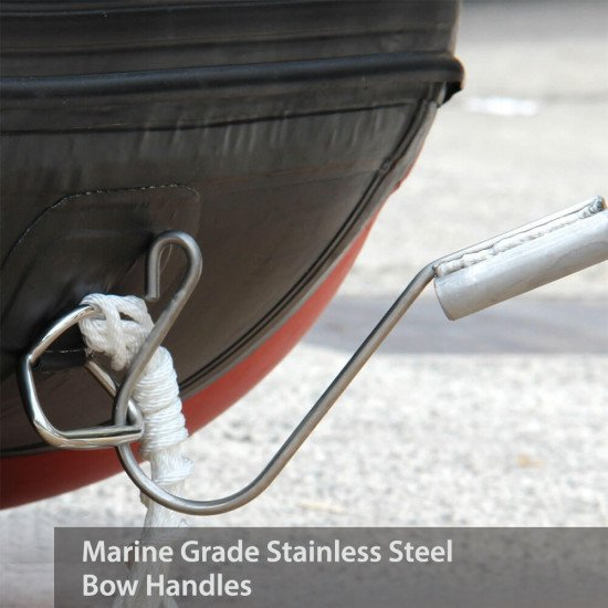 Marine Grade Stainless Steel Bow Handle, as standard
