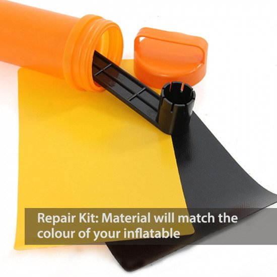 Repair kit, the material will match the colour of your inflatable
