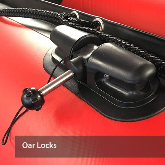 All of our inflatable boats come with oar locks as standard