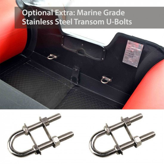 Inflatables with inflatable floor optional extra of Marine Grade Stainless Steel Transom U-Bolts