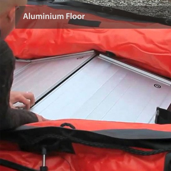The aluminium floor for the boats comes in  panels for easy storage and transportation