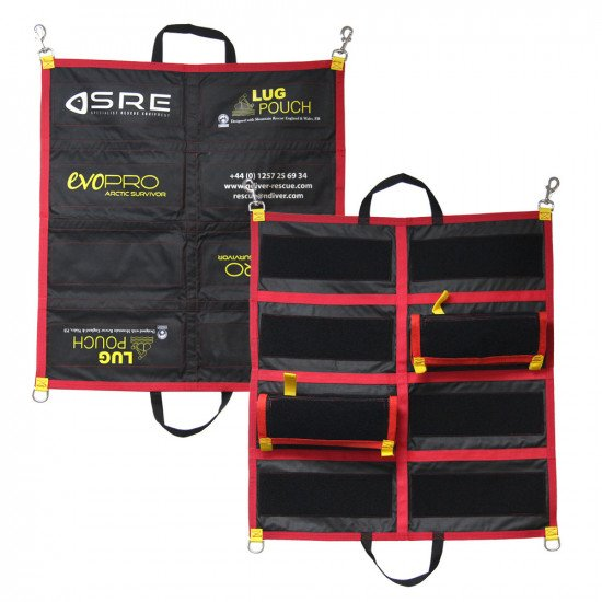 Northern Diver also supply a storage bag that stores up to 8 rescue lug pouches