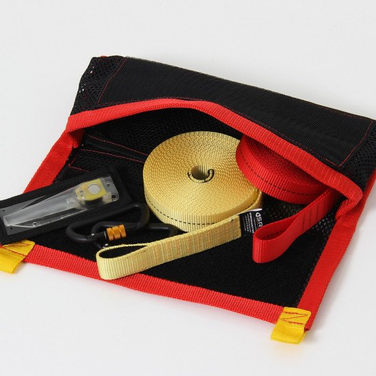 A lug pouch is great for storing small rescue equipment inside