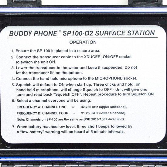 SP-100D-2 Buddy Phone 2 Channel Surface Station (1/2 Watt Output Power)