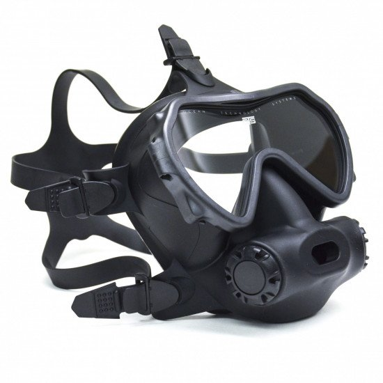 OTS Spectrum Full Face Mask, front view, all black