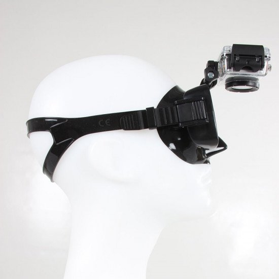 Camera is fully adjustable on the mask