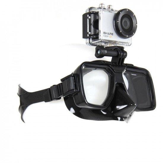 Half face dive mask front view
