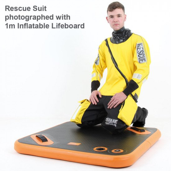 A tri-laminate rescue and response on-water suit available with alterations and branding upon request