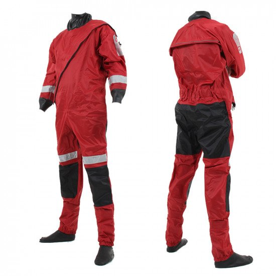 Example of the front entry version of the responder drysuit