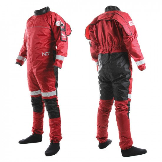 Example of the rear entry version of the responder drysuit