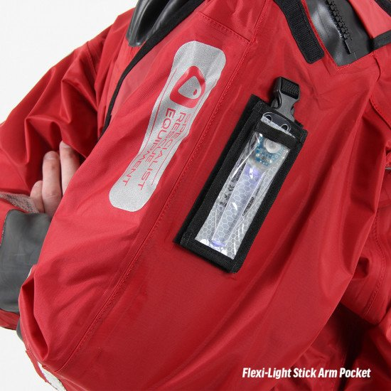 All responder suits are equipped with a light stick pocket on the arm