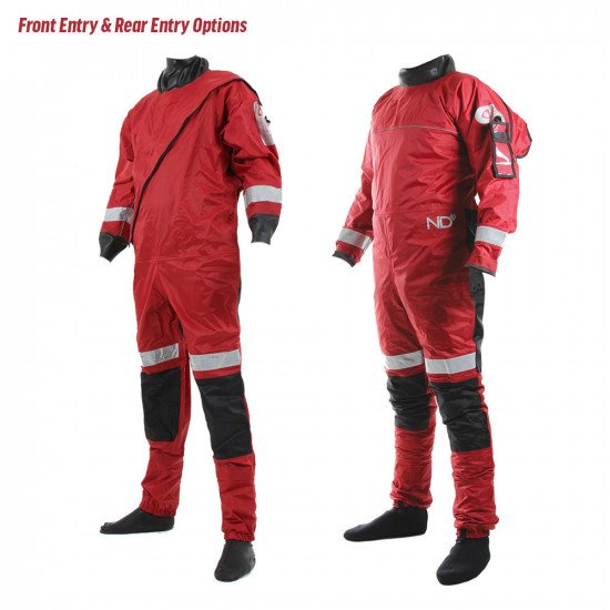 The responder rescue suit is available in front and rear entry options