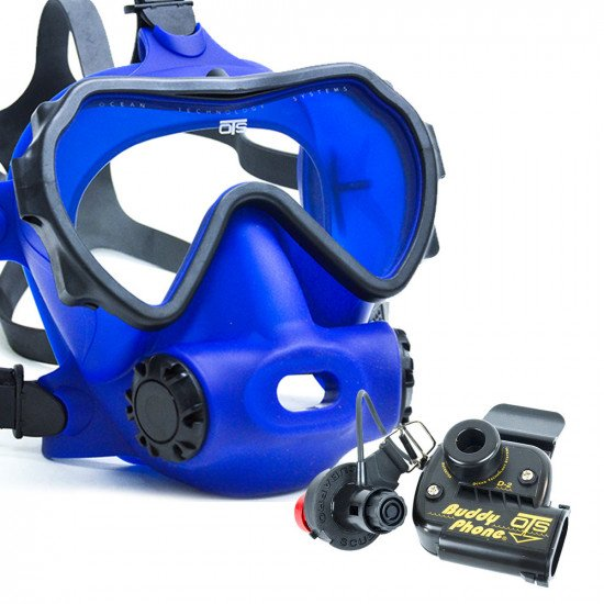 Spectrum Full Face Mask, Colour Blue, Lens Clear with BuddyPhone