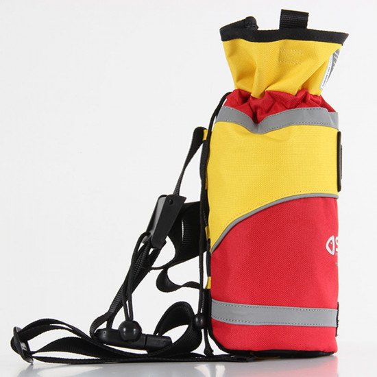 Throw Bag with 25m Reflective Line, side view right facing