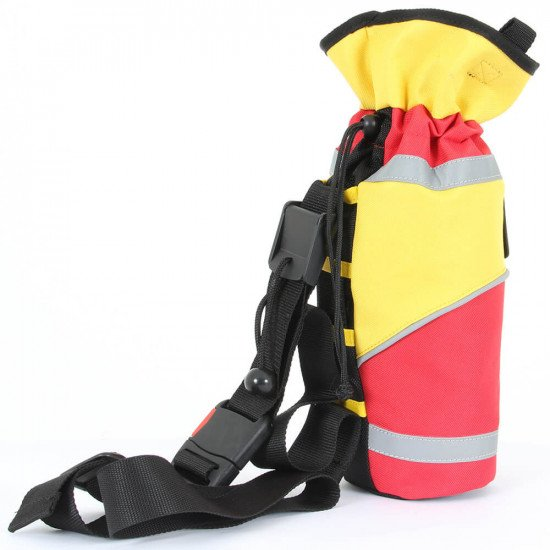 Throw Bag with 30m Reflective Line, side view right facing