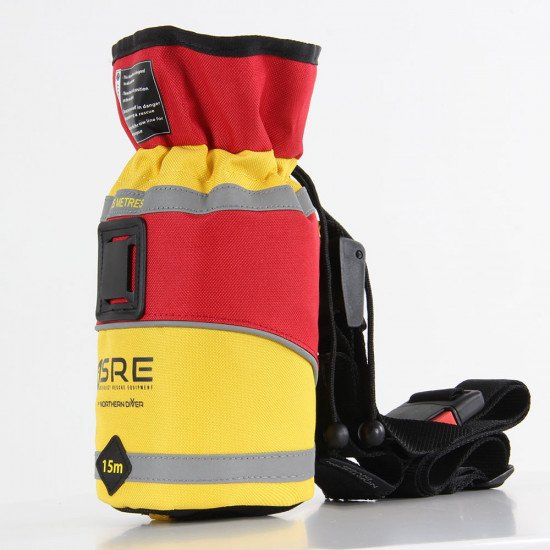 SRE 15m Throw Bag, side view left facing