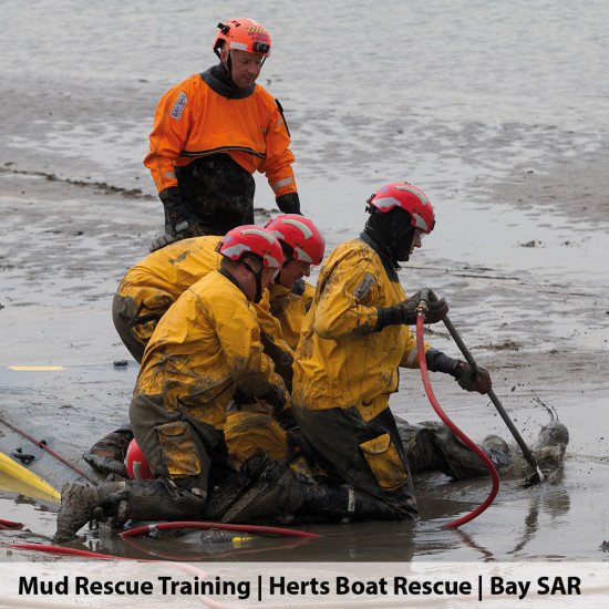 Mud rescue training with Herts boat rescue and BAY SAR