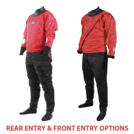 Our 320D red storm force rescue suits are available in front and rear entry
