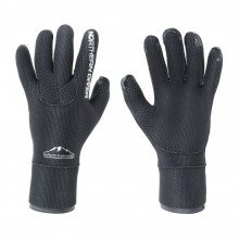 5mm neoprene arctic survivor gloves in black and silver styling