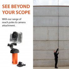 Go pro camera attachment for use with the rescue reach poles