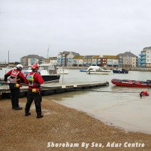 Shoreham By Sea using our reach poles.