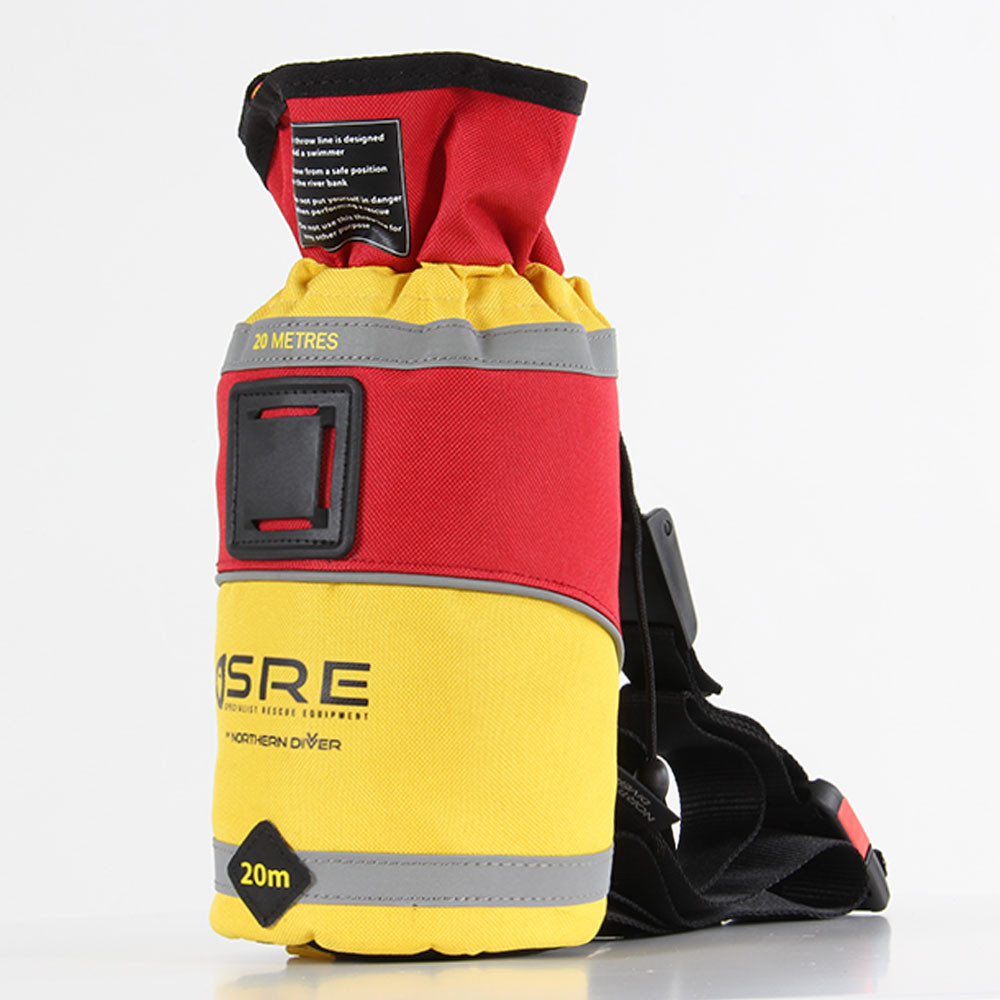 SRE 20m Throw Bag, side view left facing