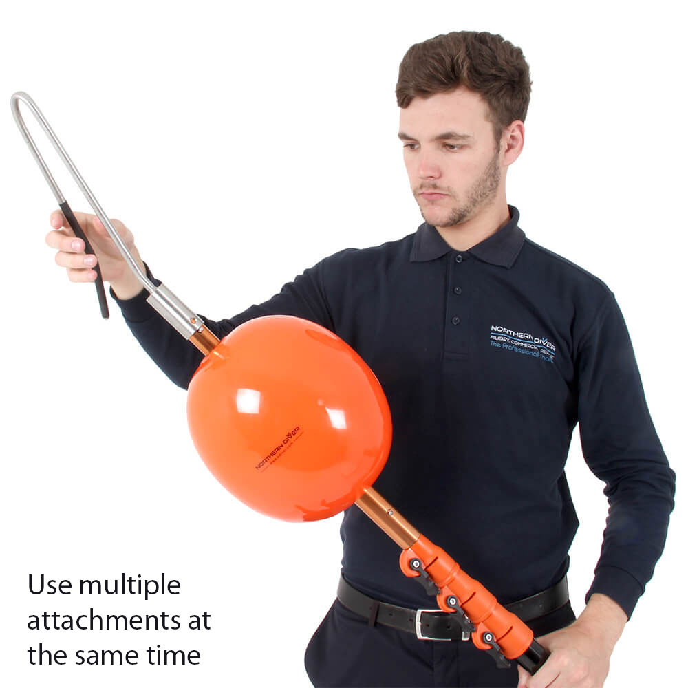 Use multiple reach pole attachments at the same time