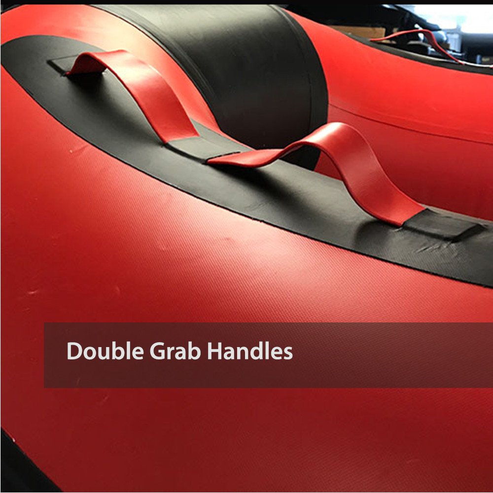 Double grab handles made of boat material