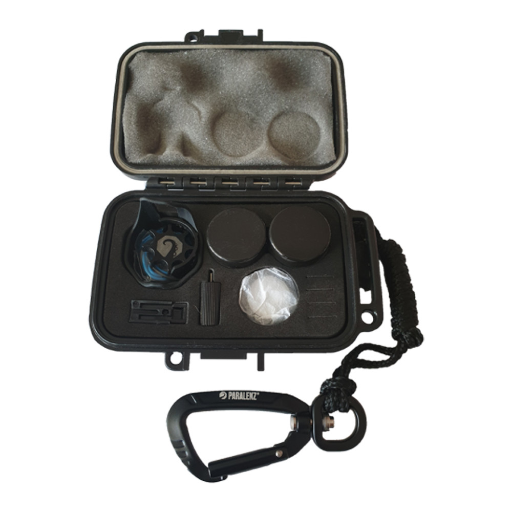 Paralenz Maintenance Kit - open travel case with the maintenance contents inside